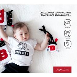 BABY MR B - kontrastowa grzechotka sensoryczna, Lullalove