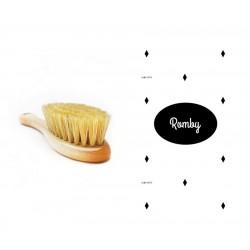 Lullalove, Szczotka z naturalnego włosia z myjką Romby