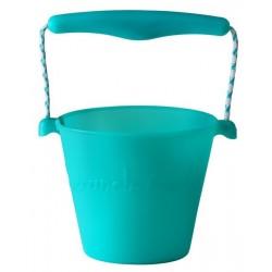 Scrunch-bucket Zwijane wiaderko silikonowe, Morski