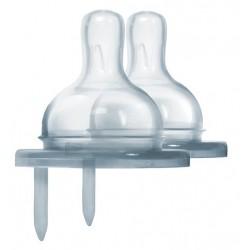 Smoczek dla niemowląt - średni przepływ do butelek Pura Kiki, 2 szt.