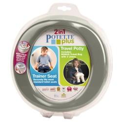 Potette Plus 2w1 nocnik turystyczny-nakładka na WC szary