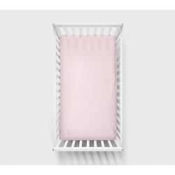 Prześcieradło Lullalove Różowe bawełniane 140x70cm