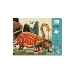 Zestaw artystyczny Mozaiki Djeco Dinozaury