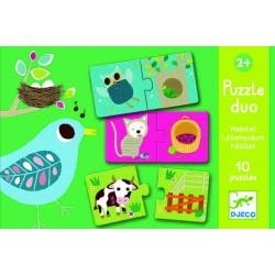 Puzzle Duo Zwierzątka, Djeco