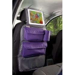 Organizer Podróżnika 2w1 z oknem na tablet szary z fioletem, Tuloko