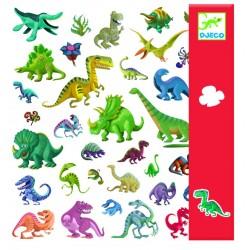 Zestaw naklejek 160 szt. Dinozaury, Djeco