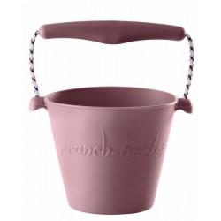 Scrunch-bucket Zwijane wiaderko silikonowe, Pudrowy Róż